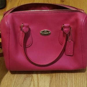 Coach hot pink leather purse